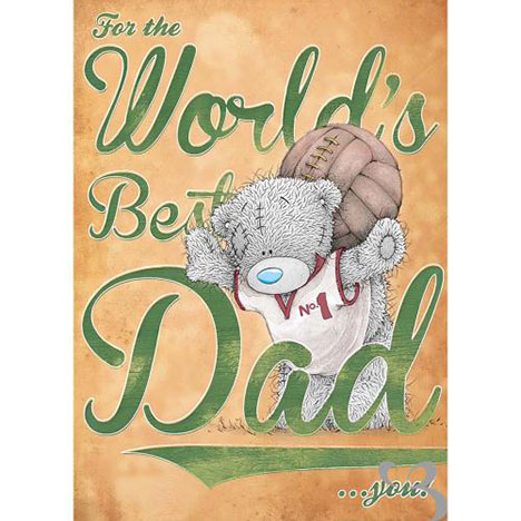 Worlds Best Dad Me to You Bear Fathers Day Card  £1.89