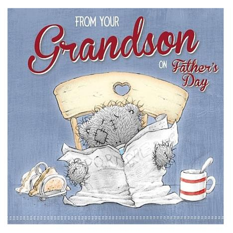 From Your Grandson Me to You Bear Fathers Day Card   £2.09