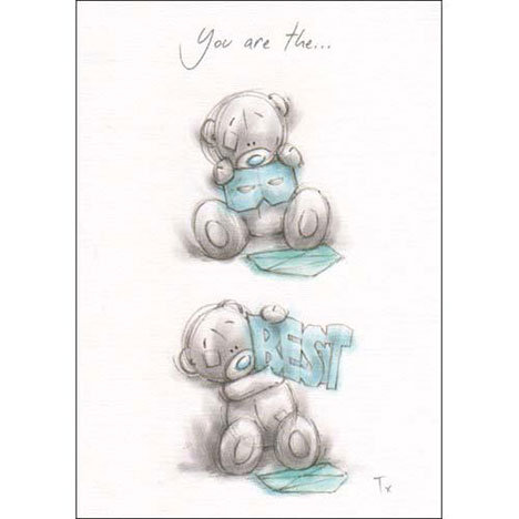 Best Dad Me to You Bear Sketchbook Fathers Day Card   £1.60