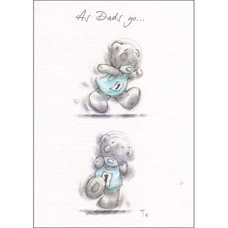 Dad Me to You Bear Sketchbook Fathers Day Card   £1.60