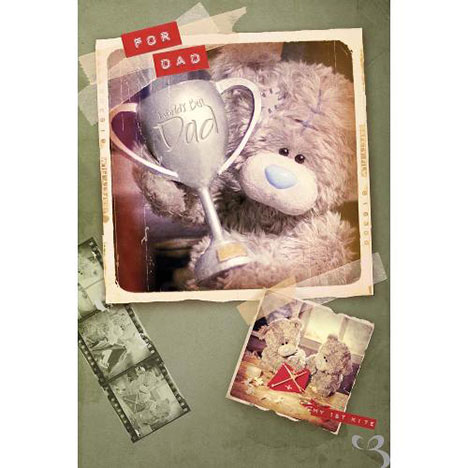Dad Tatty Holding Trophy Me to You Bear Fathers Day Card  £2.49
