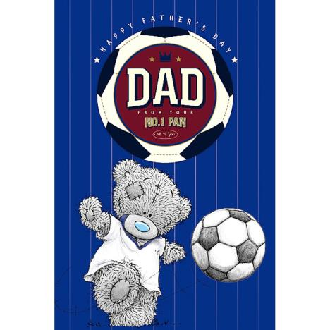 Dad with Football Me To You Bear Fathers Day Card With Beer Mat  £3.59