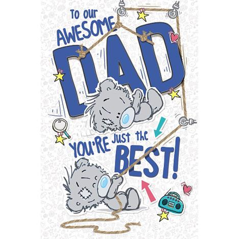 Awesome Dad My Dinky Bear Me to You Fathers Day Card  £1.89