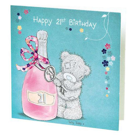Happy 21st Birthday Me to You Bear Gift Tag  £0.40