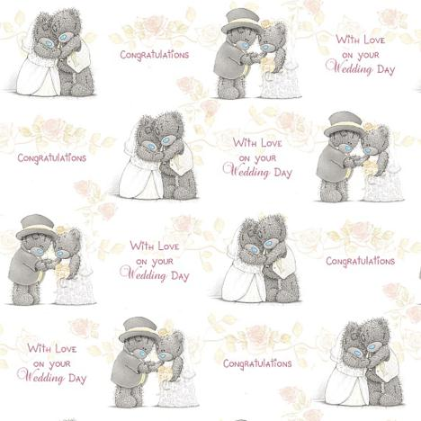 Wedding Day Congratulations Me to You Bear Gift Wrap  £1.00
