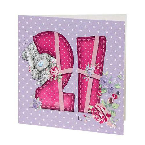 21st Birthday Me to You Bear Gift Tag  £0.40