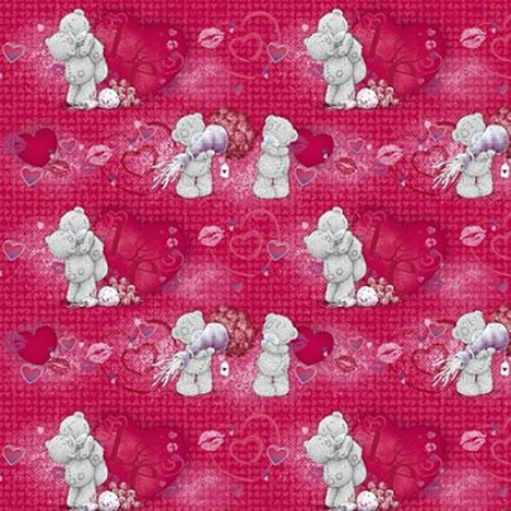 Hearts Hugs & Kisses Me to You Bear Love Flatwrap  £1.00