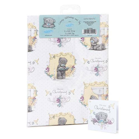 Luxury Christening Me to You Bear Giftwrap and Tags  £1.00