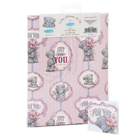 Just For You Luxury Me to You Bear Giftwrap and Tags  £1.00