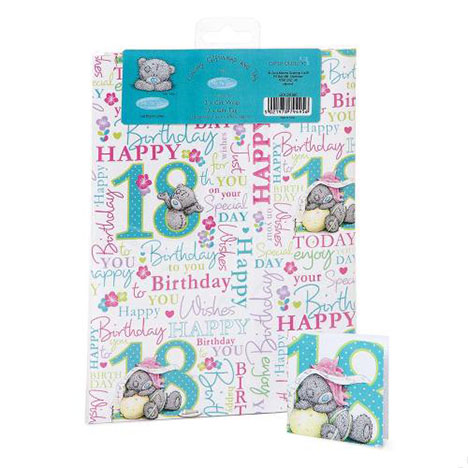 18th Birthday Luxury Me to You Bear Giftwrap and Tags  £1.00