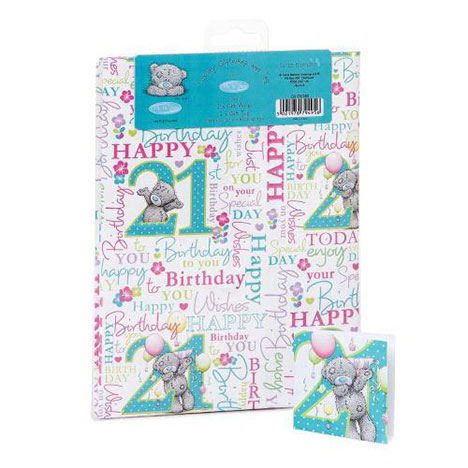 21st Birthday Luxury Me to You Bear Giftwrap and Tags  £1.00