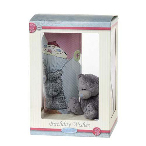 Birthday Wishes Hi-Ball Glass and Bear Me to You Bear Gift Set  £9.99