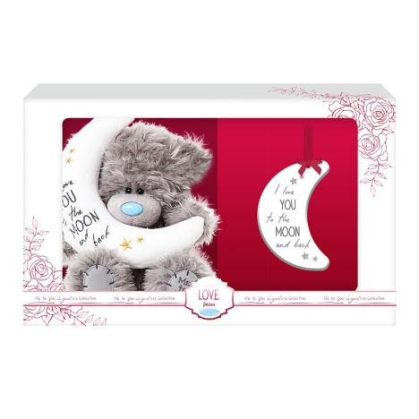 "5"" Moon And Back Me to You Bear & Plaque Set  £15.00"
