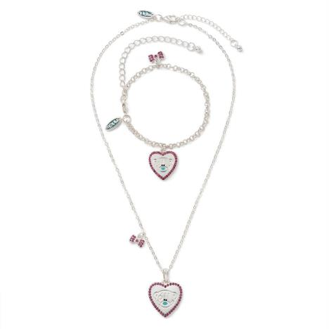 Heart Necklace and Bracelet Me to You Bear Gift Set   £14.99