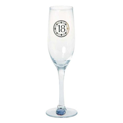 18th Birthday Me to You Bear Champagne Glass   £10.00