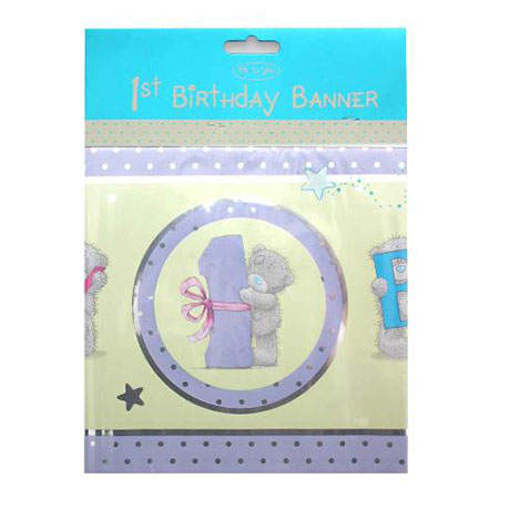 Happy 1st Birthday Me to You Bear Banner   £2.50