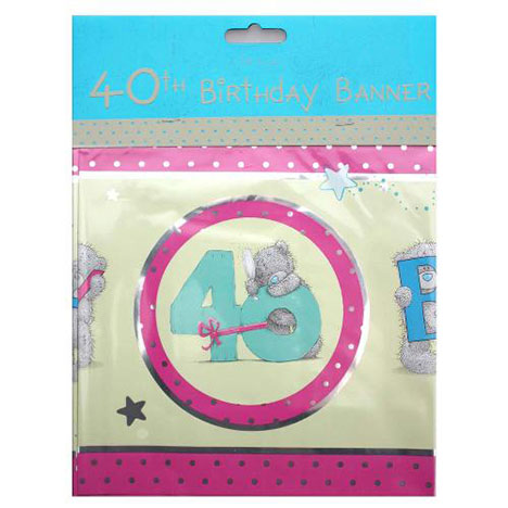 Happy 40th Birthday Me to You Bear Banner   £2.50