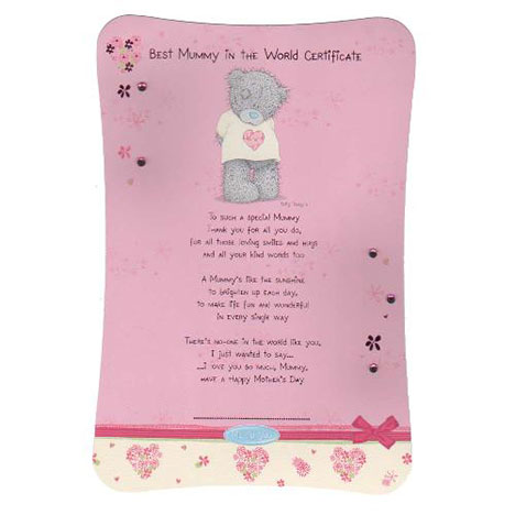 Best Mummy Me to You Bear Certificate   £2.99