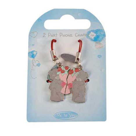 Me to You Bear Love Flowers 2 Part Mobile Phone Charm   £3.99