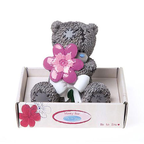 Me to You Bear Holding Flower Resin Money Box  £6.99