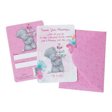 Thank You Mummy Me to You Bear Message Card  £1.25