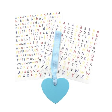 Me to You Bear Blue Heart Necklace with Letter Stickers  £2.29
