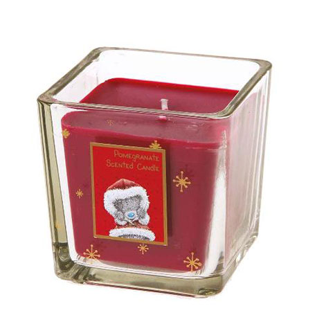 Pomegranate Scented Me to You Bear Christmas Square Candle  £7.49