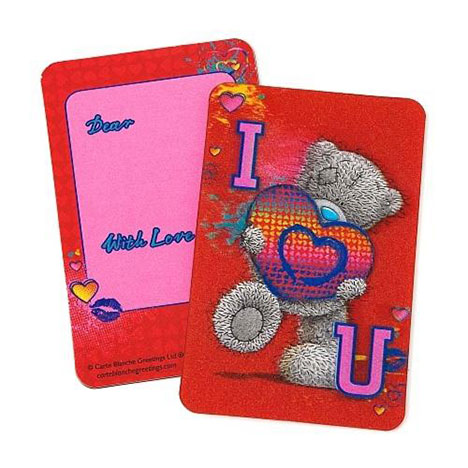 3D I Love You Me to You Bear Message Card  £1.25