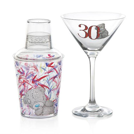 30th Birthday Me to You Bear Cocktail Glass and Shaker  £15.00