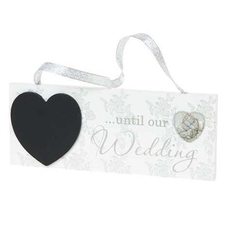 Me to You Bear Wedding Countdown Plaque  £4.00