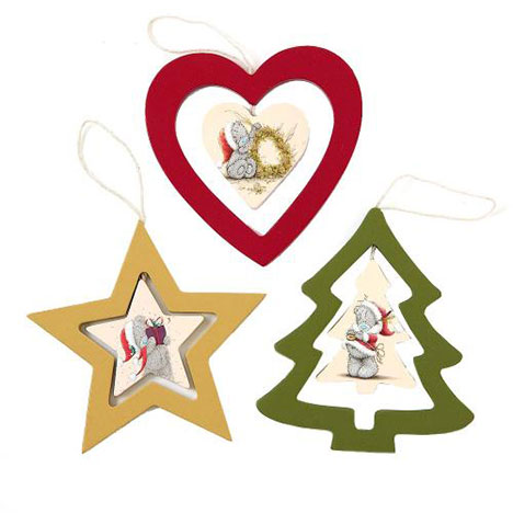Set of 3 Me to You Bear Christmas Tree Decorations   £6.00