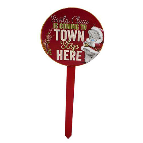 Santa Stop Here Me to You Bear Sign  £8.00