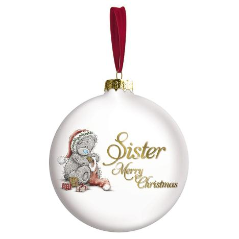 Merry Christmas Sister Me to You Bear Bauble Tree Decoration  £5.00