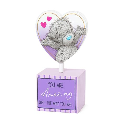 You Are Amazing Me to You Bear Standing Heart Plaque  £2.99