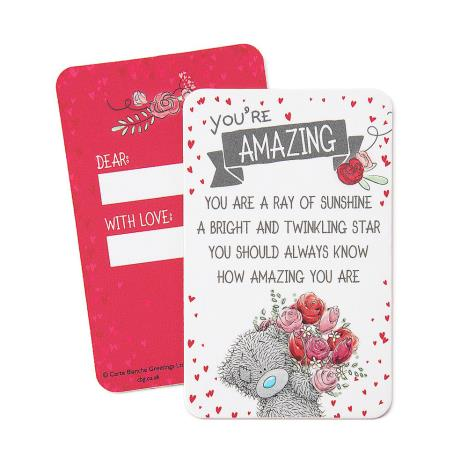 Youre Amazing Me to You Bear Message Card  £0.99