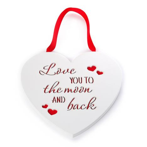 Love You To The Moon & Back Me to You Bear Heart Plaque  £5.00