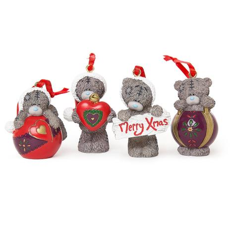 Set of 4 Resin Christmas Me to You Bear Tree Decorations  £11.99