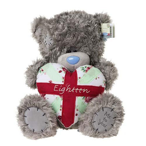 "12"" 18th Birthday Padded Heart Me to You Bear  £24.99"