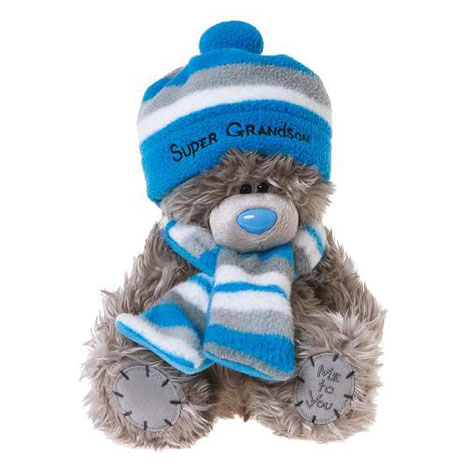 "8"" Super Grandson with Hat & Scarf Me to You Bear   £12.99"