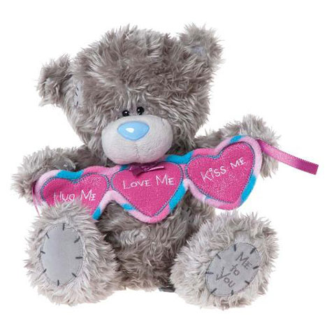 "10"" Hug Me Love Me Kiss Me Bunting Me to You Bear  £19.99"