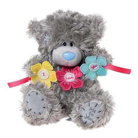 "8"" I Love You Flower Bunting Me to You Bear  £12.99"