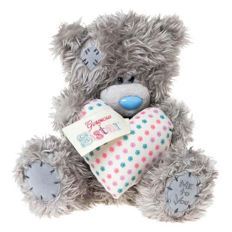 "8"" Gorgeous Sister Padded Heart Me to You Bear  £15.00"