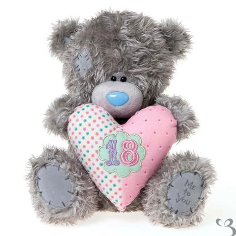 "12"" 18th Birthday Padded Heart Me to You Bear   £25.00"