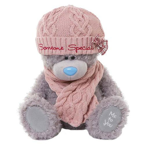 "12"" Someone Special Hat and Scarf Me to You Bear  £25.00"