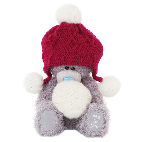 "7"" Red Hat With Pompoms Me to You Bear  £10.00"