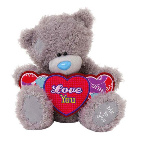 "10"" I Love You This Much Love Hearts Me to You Bear  £20.00"