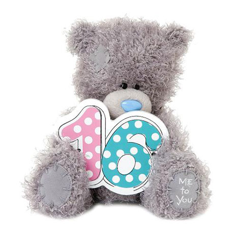 "7"" 16th Birthday Wooden Numbers Me to You Bear  £10.00"