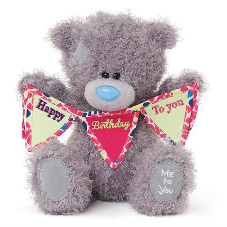 "8"" Happy Birthday Bunting Me to You Bear  £15.00"