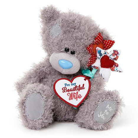 "8"" Beautiful Wife Flowers Me to You Bear  £15.00"