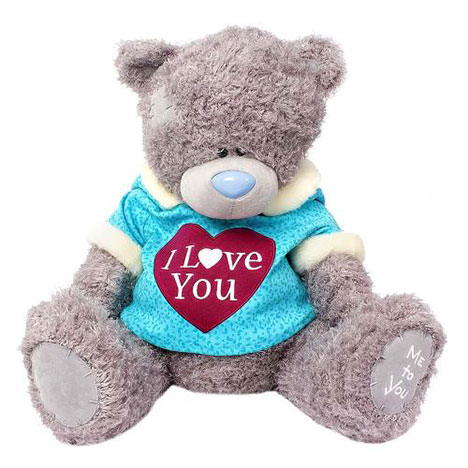 "24"" I Love You Me to You Bear wearing Hoody with Ears   £75.00"